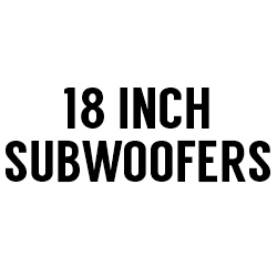 "All 18"" Subwoofers"