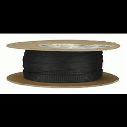 "InstallBay Expandable PET Sleeve (1/4"" - Black - 100 ft. Roll)"
