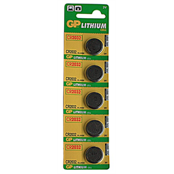 GP Lithium Cell Batteries (CR2032 - 3 Volt - 5 pk.)