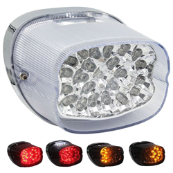 SaddleTramp Tail Light w/ Turn Signal (Clear Lens - Select HD Models '99 - '13)