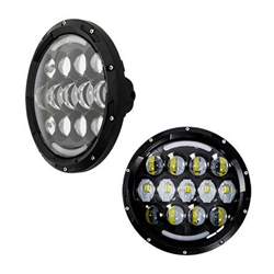"Heise LED Headlights (7"" Round w/ Part Halo - Jeep Wrangler TJ / JK '97 - '18)"