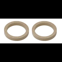"InstallBay MDF Speaker Rings (Pair - 6"" dia. x 1/2"" thick)"