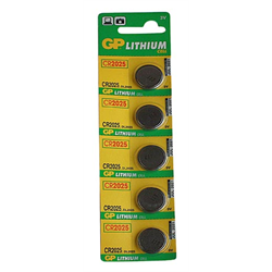 GP Lithium Cell Batteries (CR2025 - 3 Volt - 5 pk.)