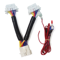 Accele OBDII T-Harness (With 12V Input Wire and Switch)