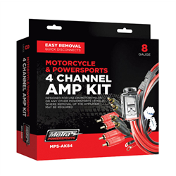 Metra Motorcycle / Powersports Amp Kit (4 Channel - 8 Ga. - OFC)