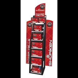 Shuriken Battery Rack Floor Display