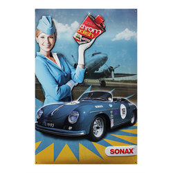 SONAX 3D Embossed Metal Sign (Blue Porsche)