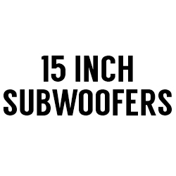 "All 15"" Subwoofers"