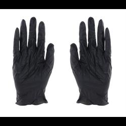 Nitrile Gloves (Medium Size - Black - 50 pk.)
