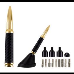 "Ammotenna Bullet Replica Antenna (4.25"" - .30 Cal - Gold w/ Carbon Fiber)"