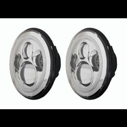 "Heise LED Headlights (7"" Round w/ Halo - Jeep Wrangler TJ / JK '07 - '18)"