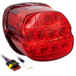 SaddleTramp LED Tail Light (Red Lens - Select HD Models '99 - up)