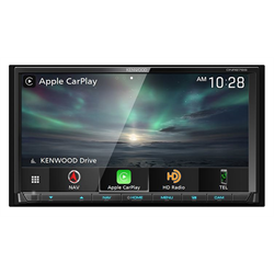 "Kenwood DDin Mechless Receiver (6.95"" - BT / WL CarPlay & AA / NAV / SXM Ready)"